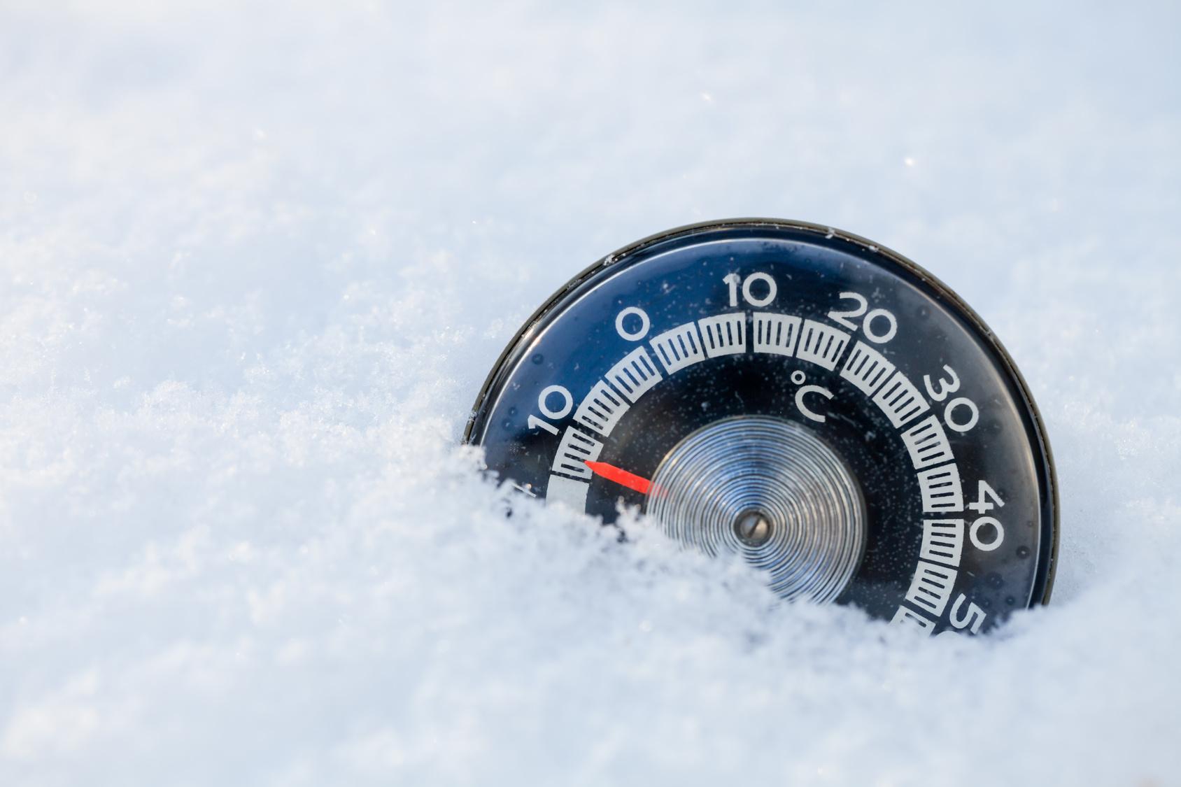 termometr temperatura mróz - Fotolia
