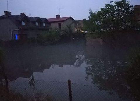bnin ulewa zalanie - OSP Poznań-Głuszyna