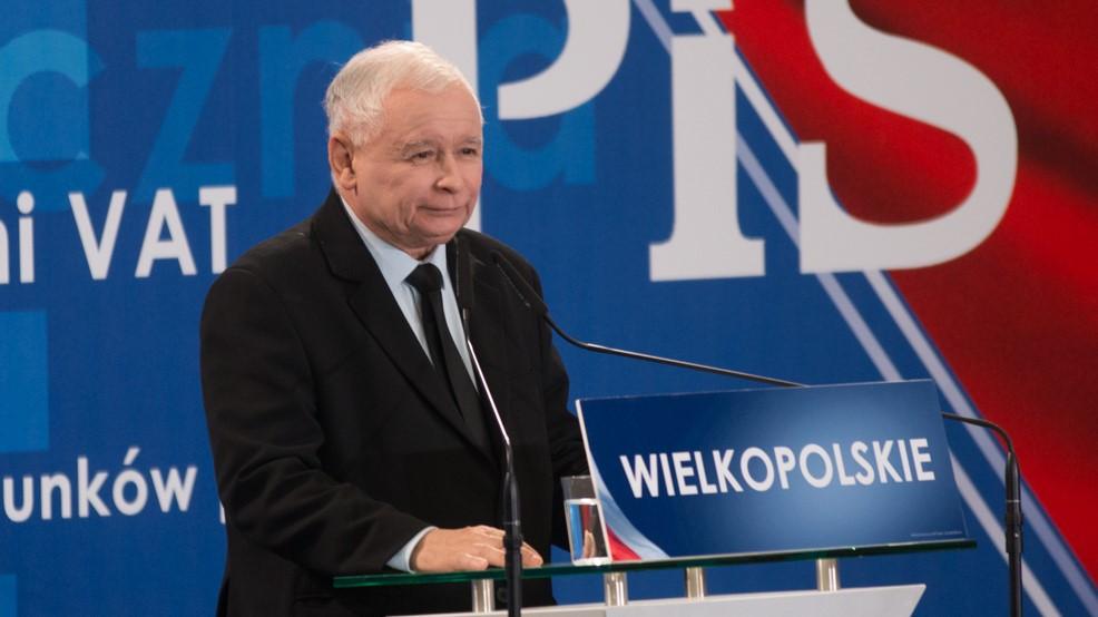 Jarosław Kaczyński podczas konwencji pis w Poznaniu - Leon Bielewicz