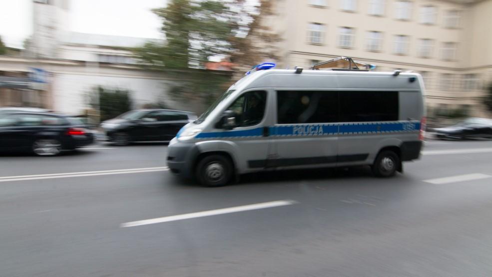 policja radiowóz wypadek - Wojtek Wardejn