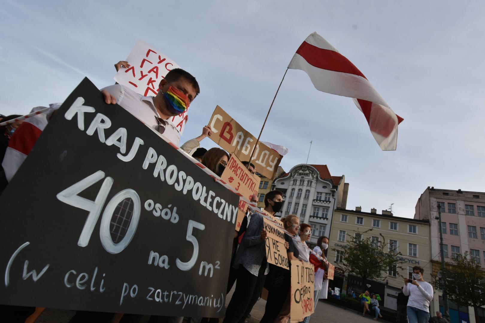 protest białoruś Poznań - Wojtek Wardejn