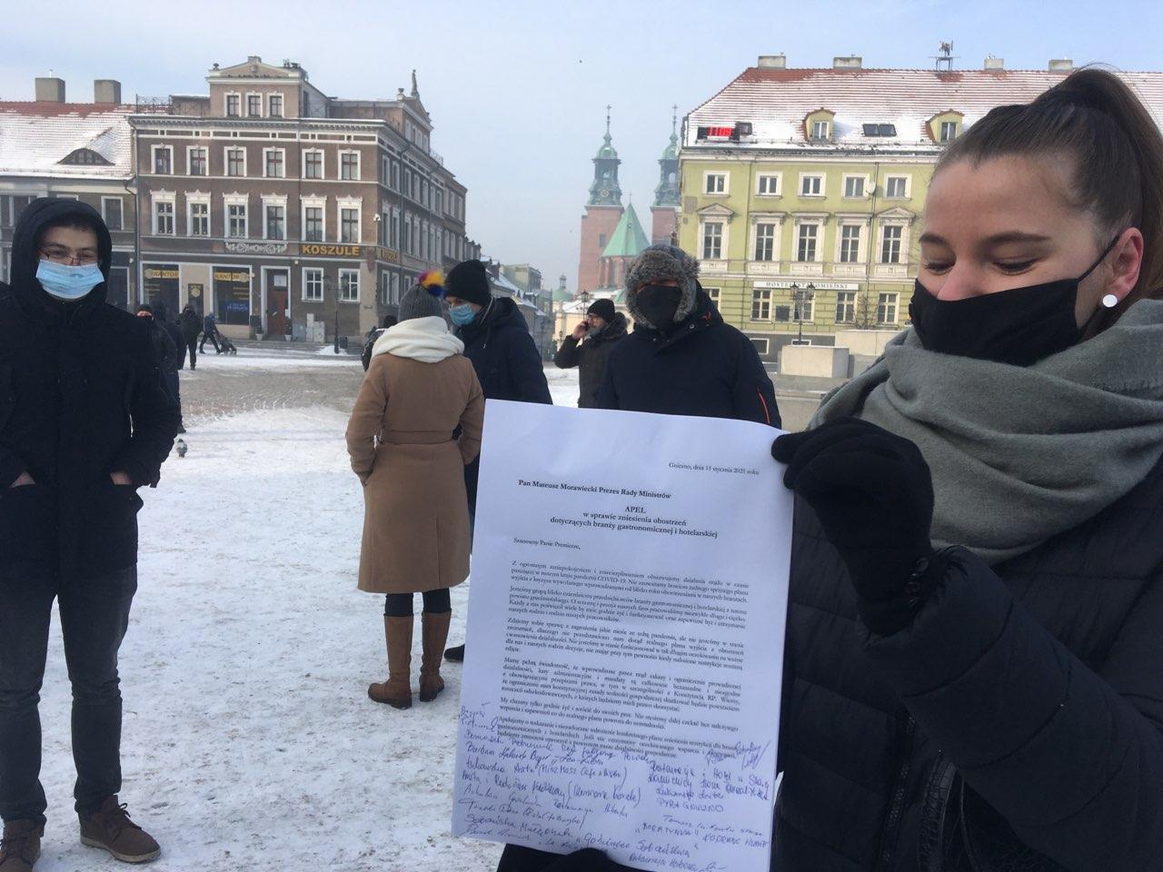 protest restauratorów gniezno - Rafał Muniak