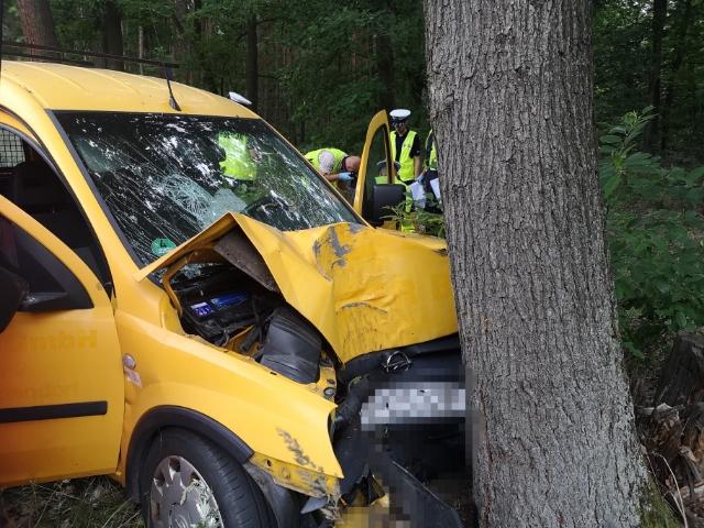 wypadek leszno drzewo - Policja Leszno