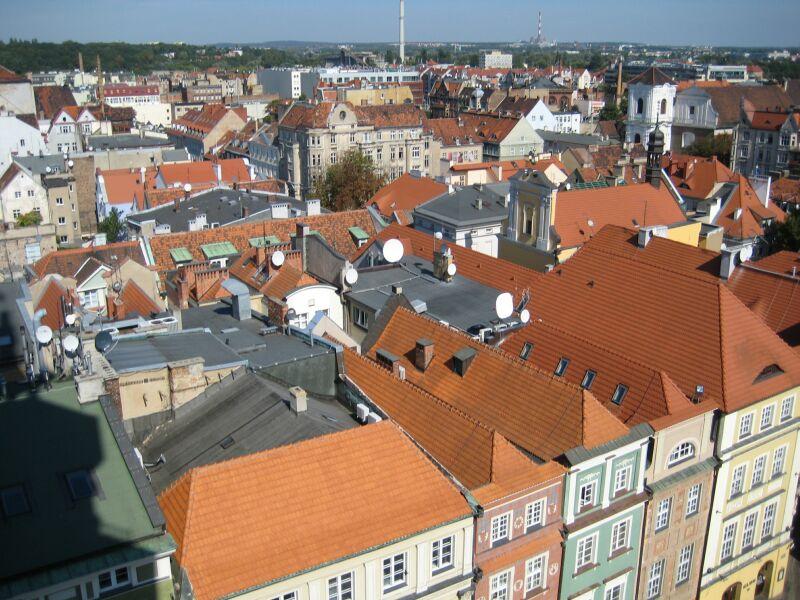 panorama poznan stary rynek stare miasto dachy - Jacek Butlewski