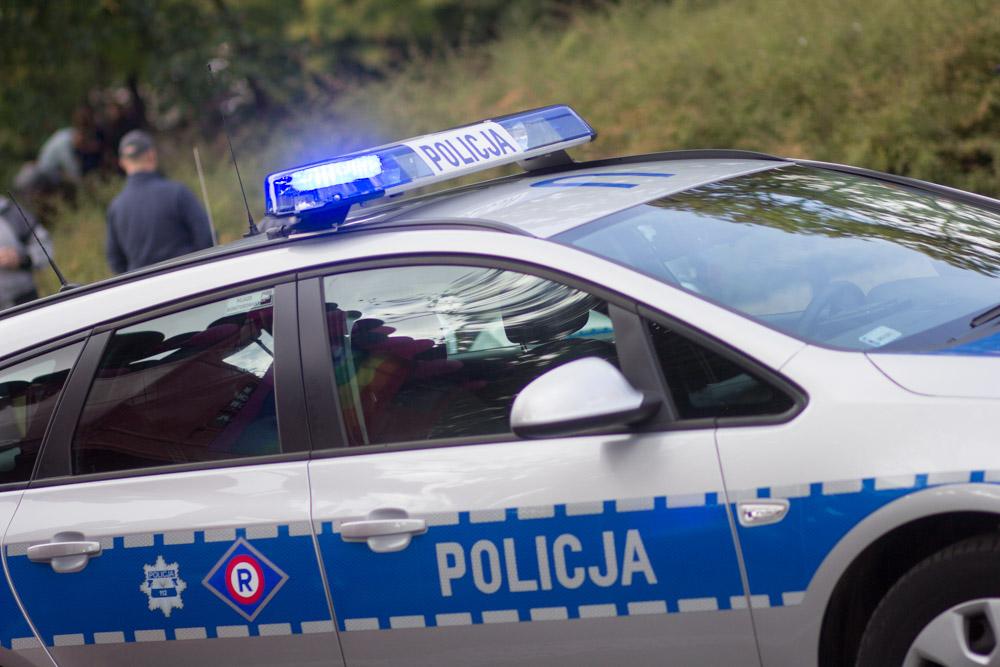marsz równości 2016 (8) policja, radiowóz policyjny - Tomasz Żmudziński