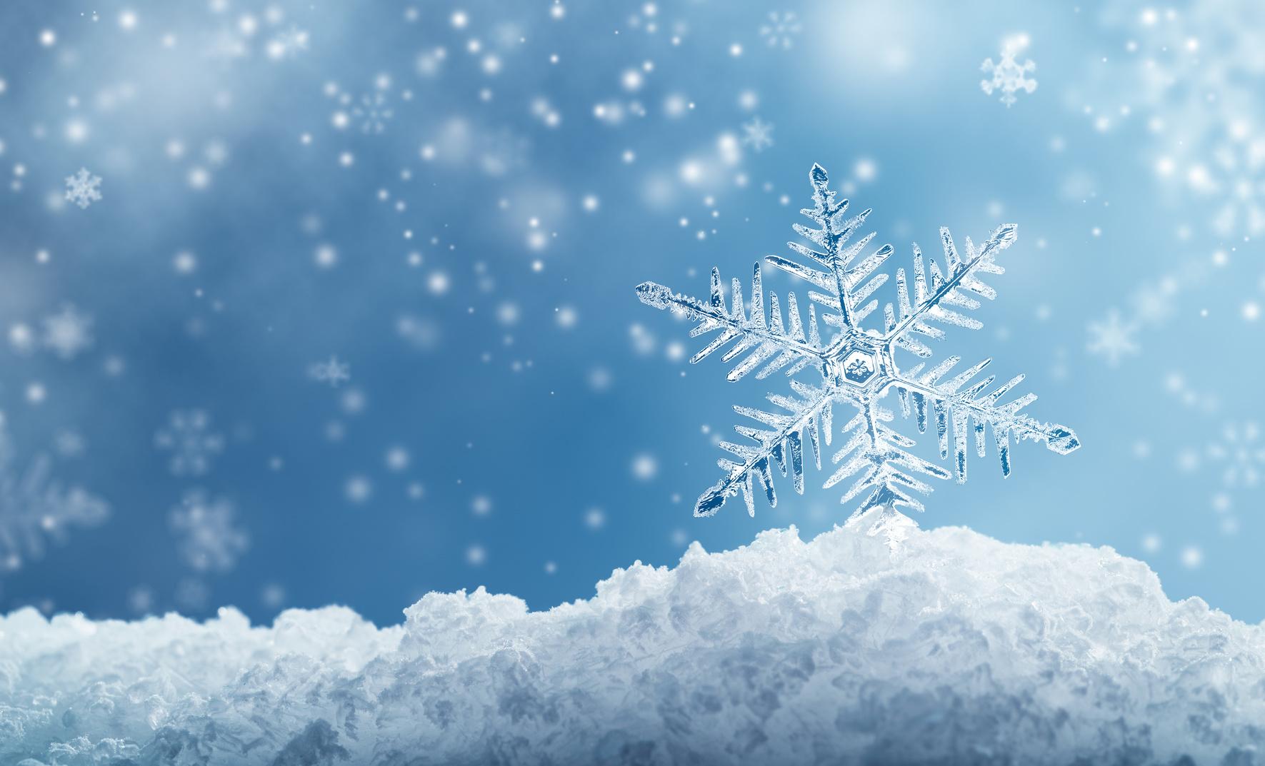 śnieg płatki śniegu zima - Fotolia