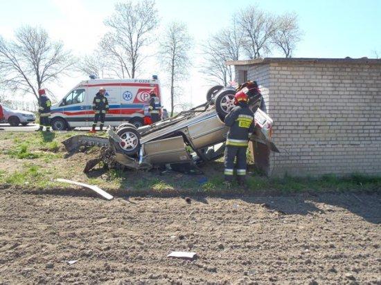 wypadek przystanek - KW PSP Słupca