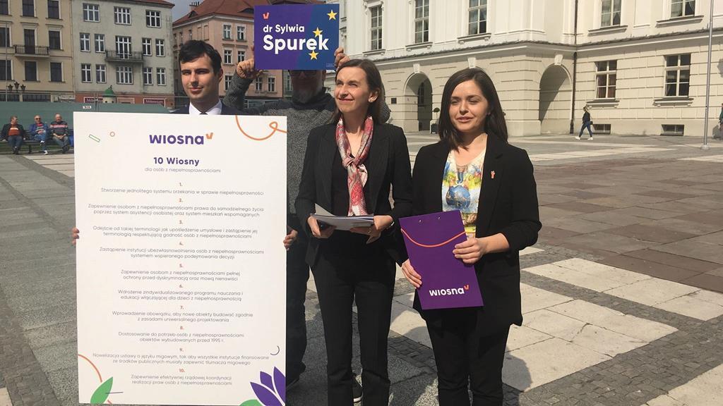 partia wiosna konferencja niepełnosprawni sylwia surek - Danuta Synkiewicz