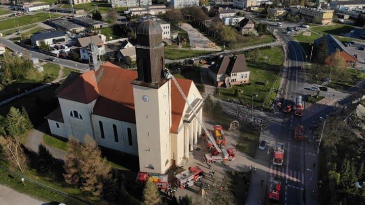gołańcz kościół pożar - Jacek Abram - Moja Gołańcz - wczoraj, dziś i jutro