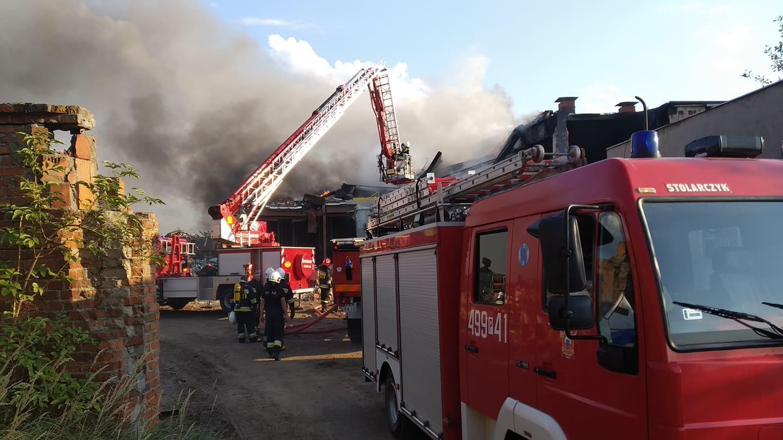 pożar cegielnia krotoszyn  - archiwum OSP Krotoszyn