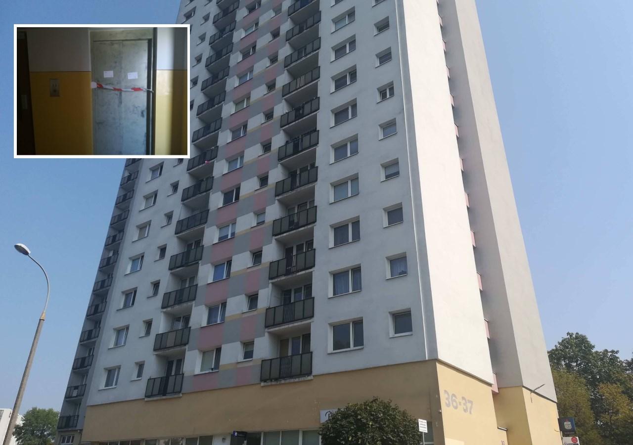 wypadek na ratajach mężczyzna wpadł do szybu windy - Sandra Soluk
