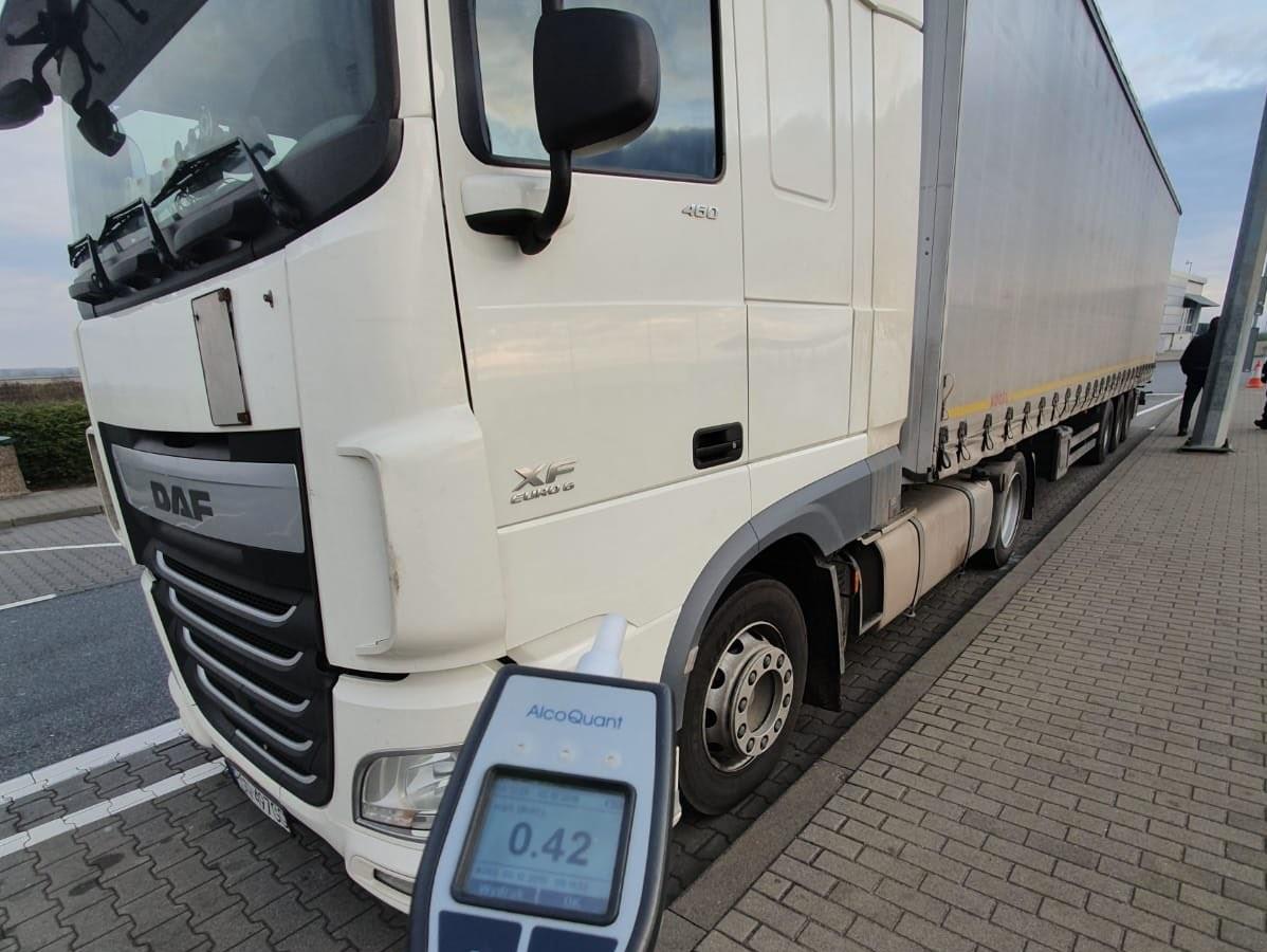 pijany kierowca ciężarówka - Wielkopolska Policja