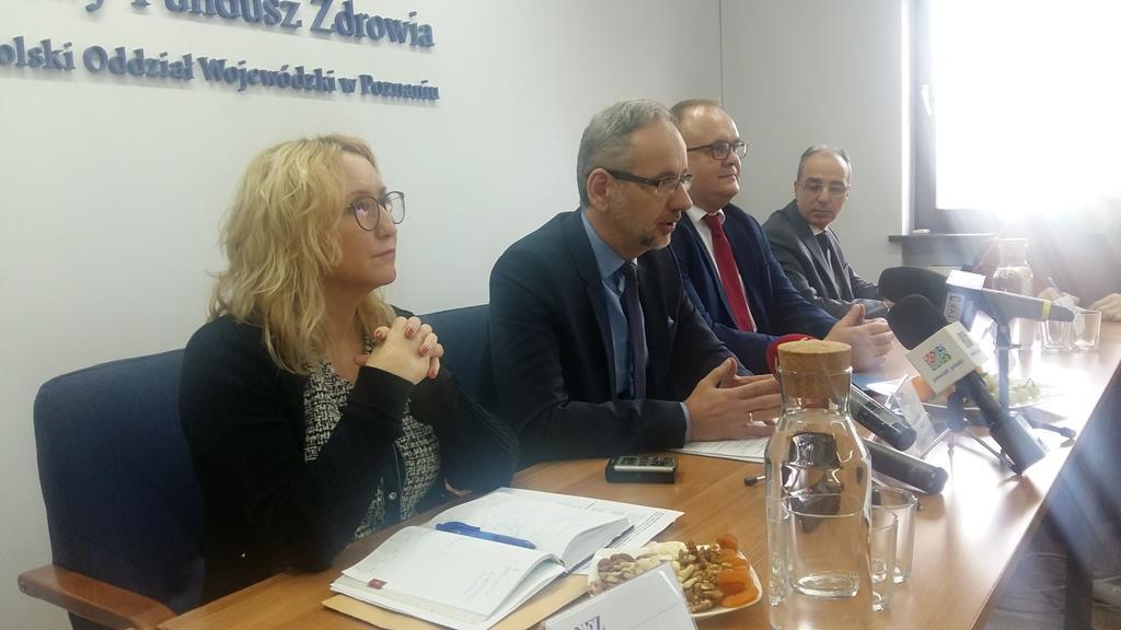 konferencja prezesa NFZ Adam Niedzielski - Magdalena Konieczna