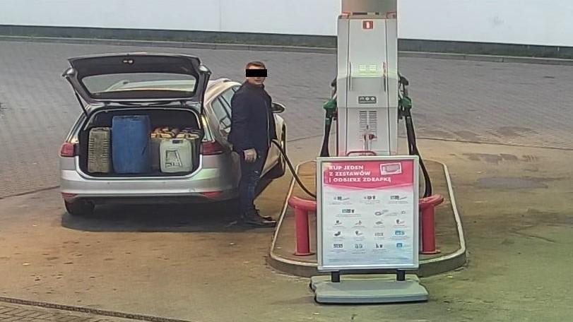 złodziej paliwa Międzychód  - KPP Międzychód