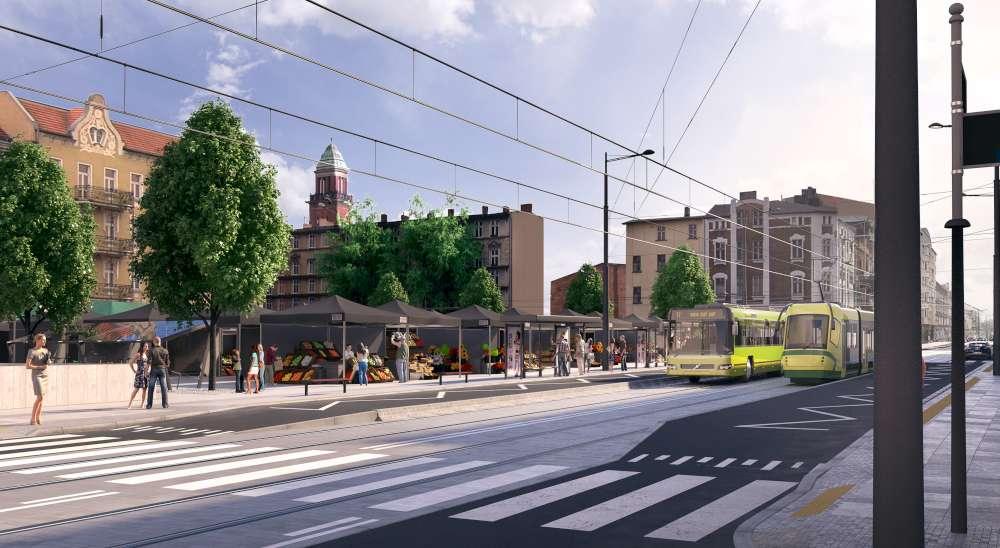 przbudowa dąbrowskiego wizualizacja  - ZTM Poznań