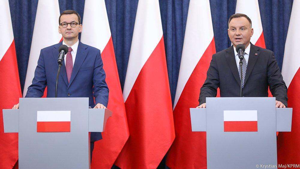 Mateusz Morawiecki i Andrzej Duda - KPRM