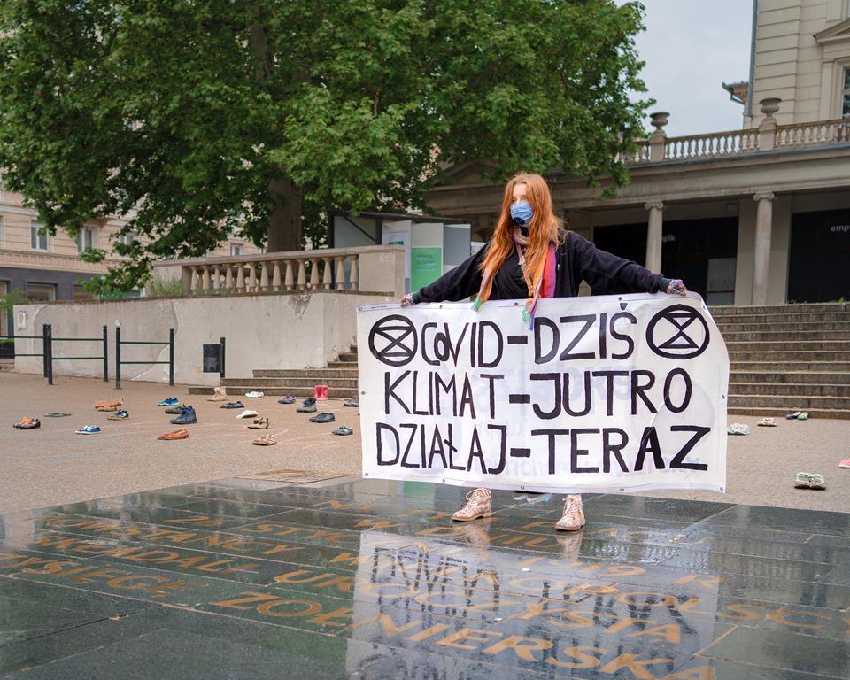 plac wolności protest Extinction Rebellion Poznań - KARMA
