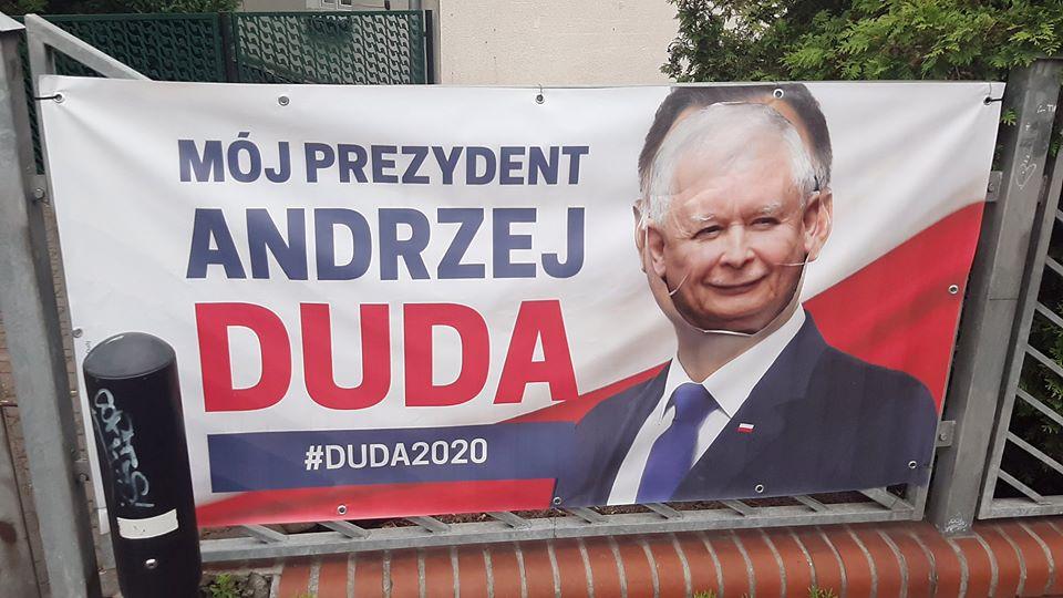 zniszczone plakaty andrzeja dudy szamotuły - Maciej Bieniek - wicewojewoda wielkopolski