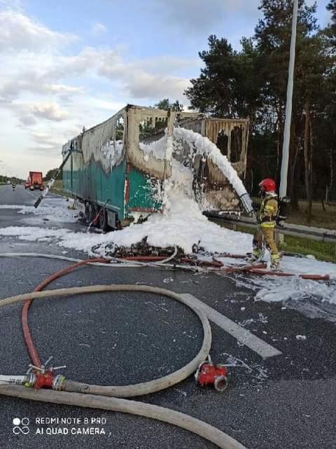 A2 naczepa pożar - Straż Pożarna Konin