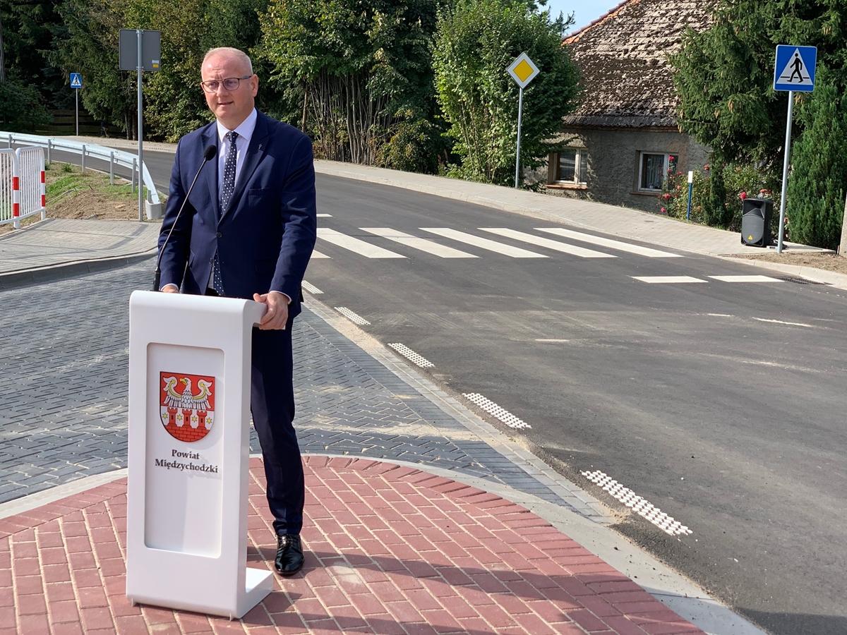 fundusz dróg samorządowych lewice krzyżkowko droga otwarcie rafał litke łukasz mikołajczyk - Kacper Witt - Radio Poznań