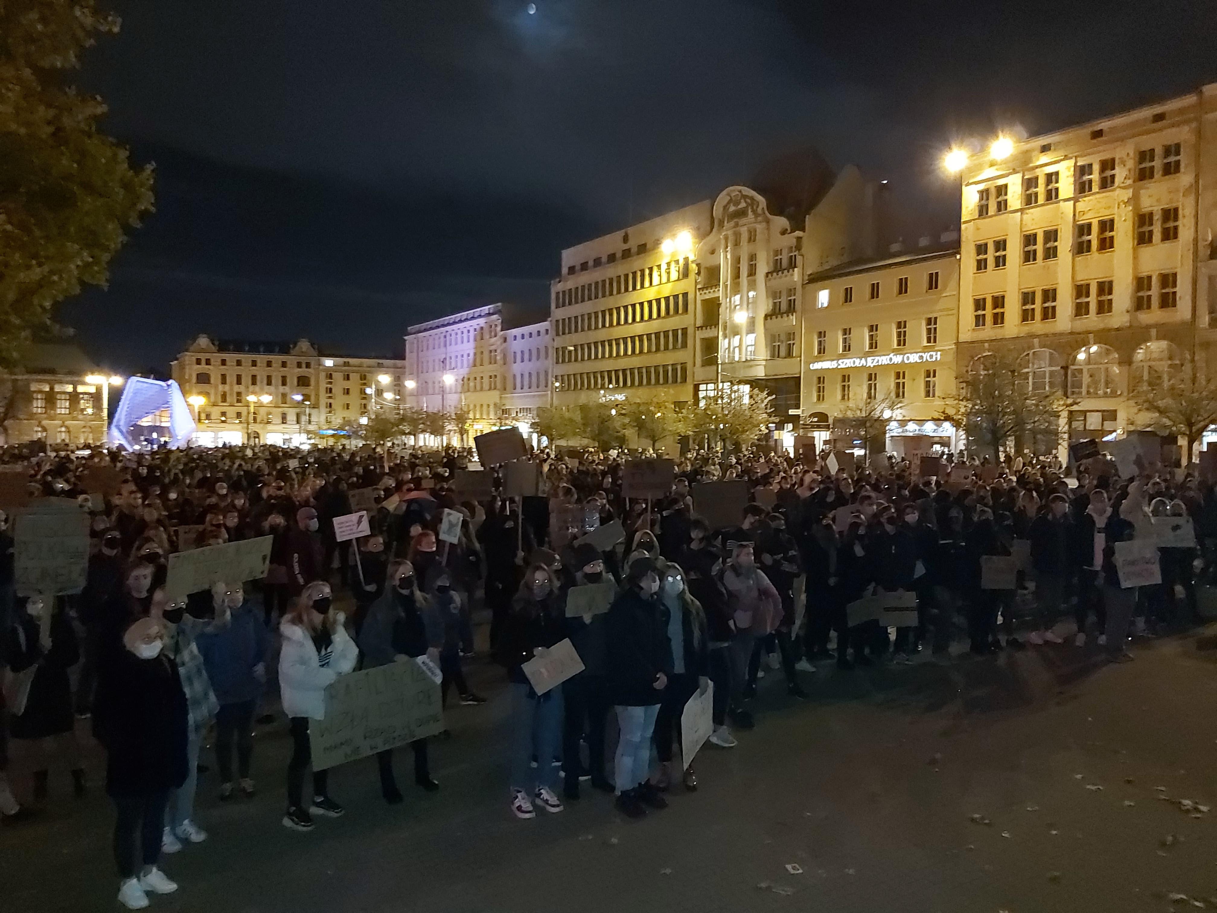protest plac wolności - Krzysztof Polasik