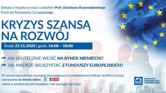 kryzys szansą na rozwój konferencja  - FB: Prof. Zdzisław Krasnodębski