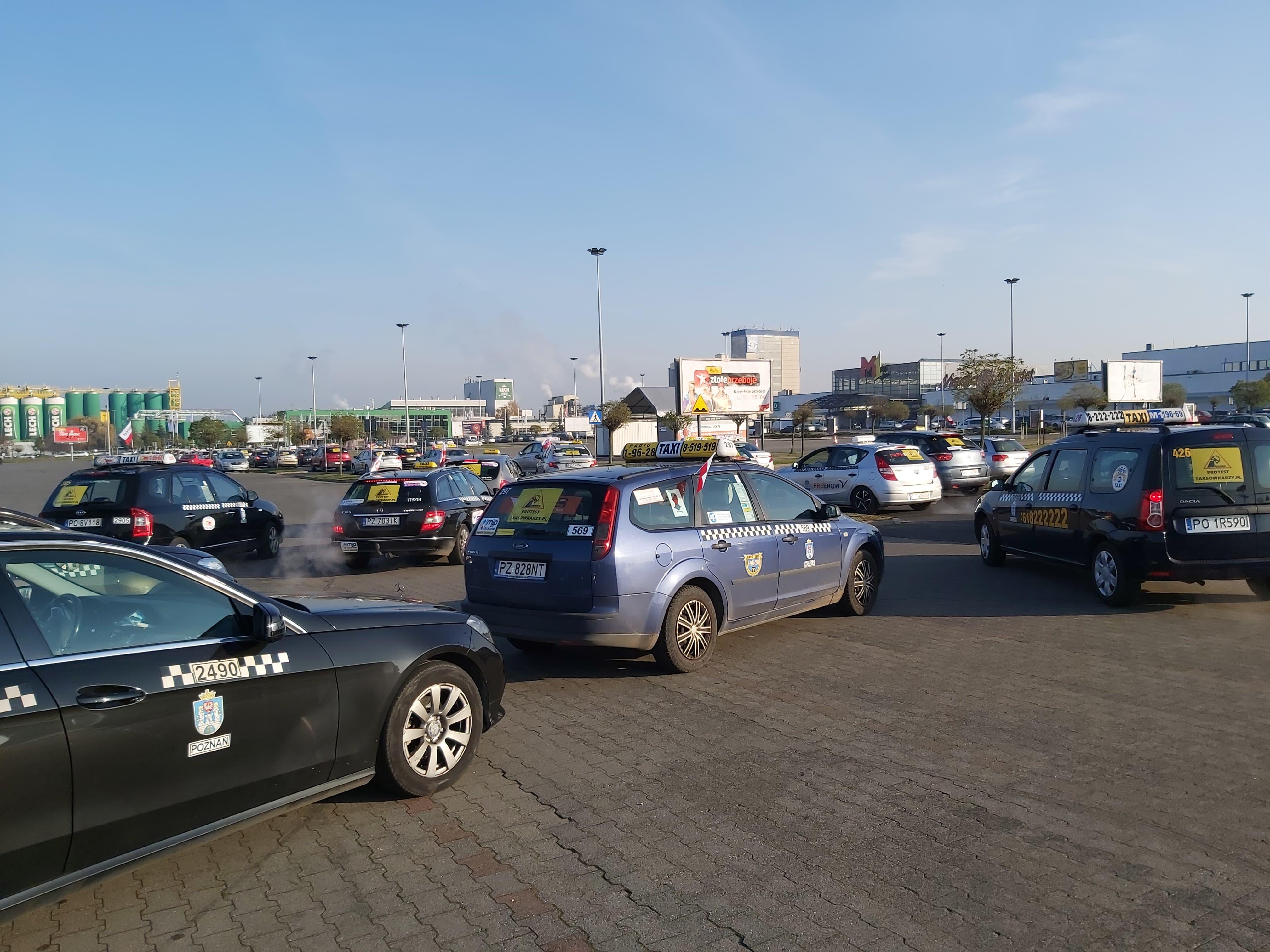 taksówkarze protest - Krzysztof Polasik