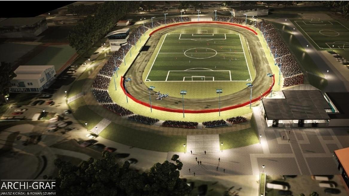 przebudowa stadionu żużlowego w Pile - UM Piła