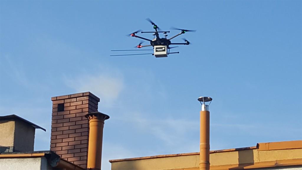 dron komin straż miejska kalisz smog dron - Straż Miejska Kalisz