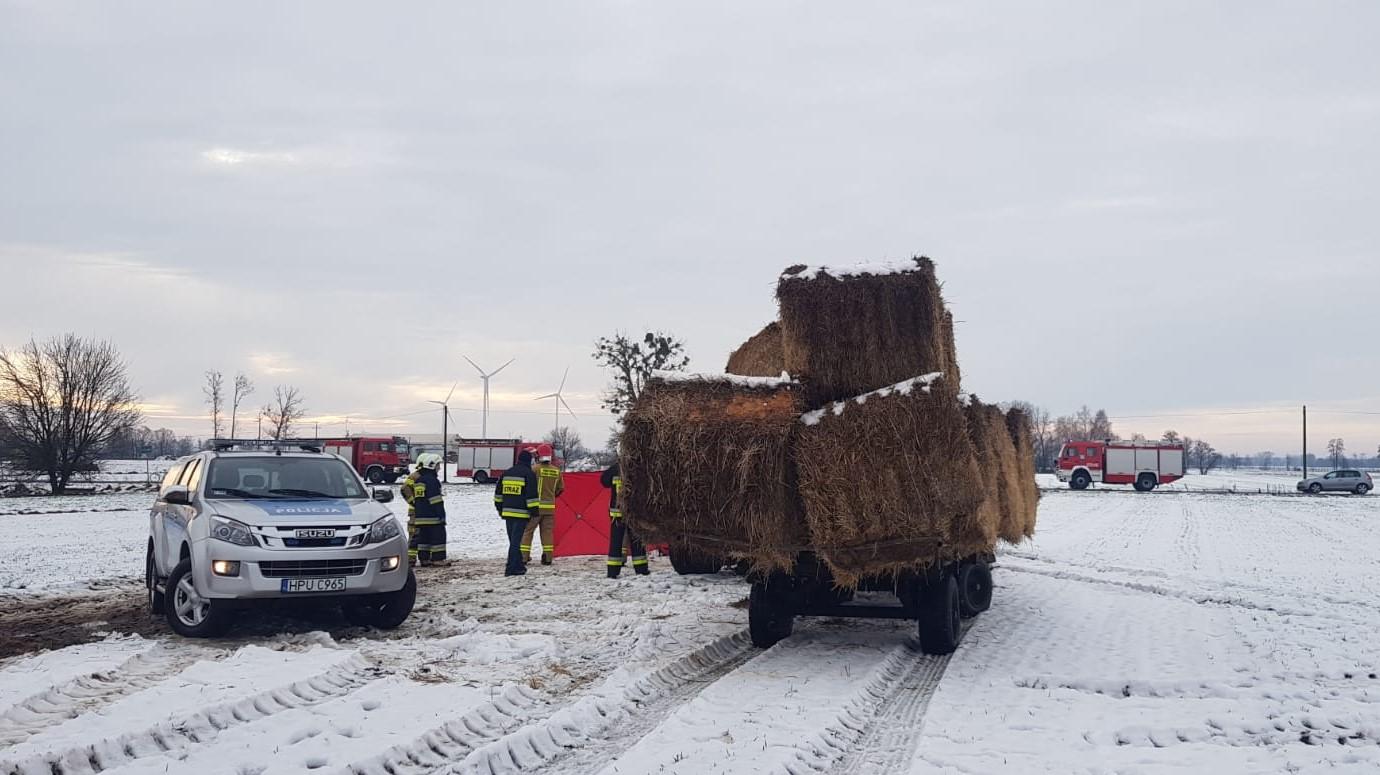 wypadek śmiertelny rolnik lisewo pyzdry - KPP Września