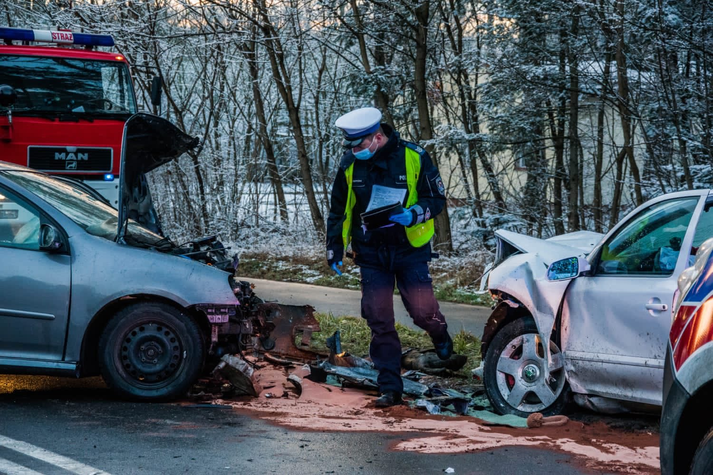 wypadek Leszno - KMP Leszno