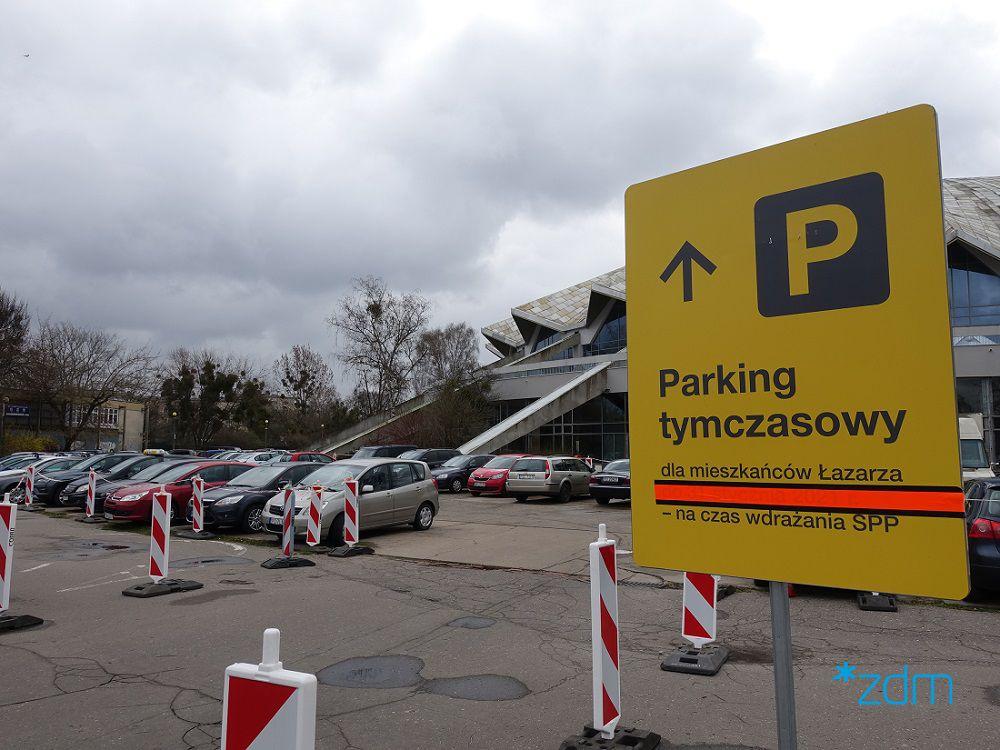 parking arena tymczasowy - ZDM