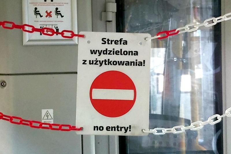 strefy buforowe obok kabin motorniczych  - MPK Poznań