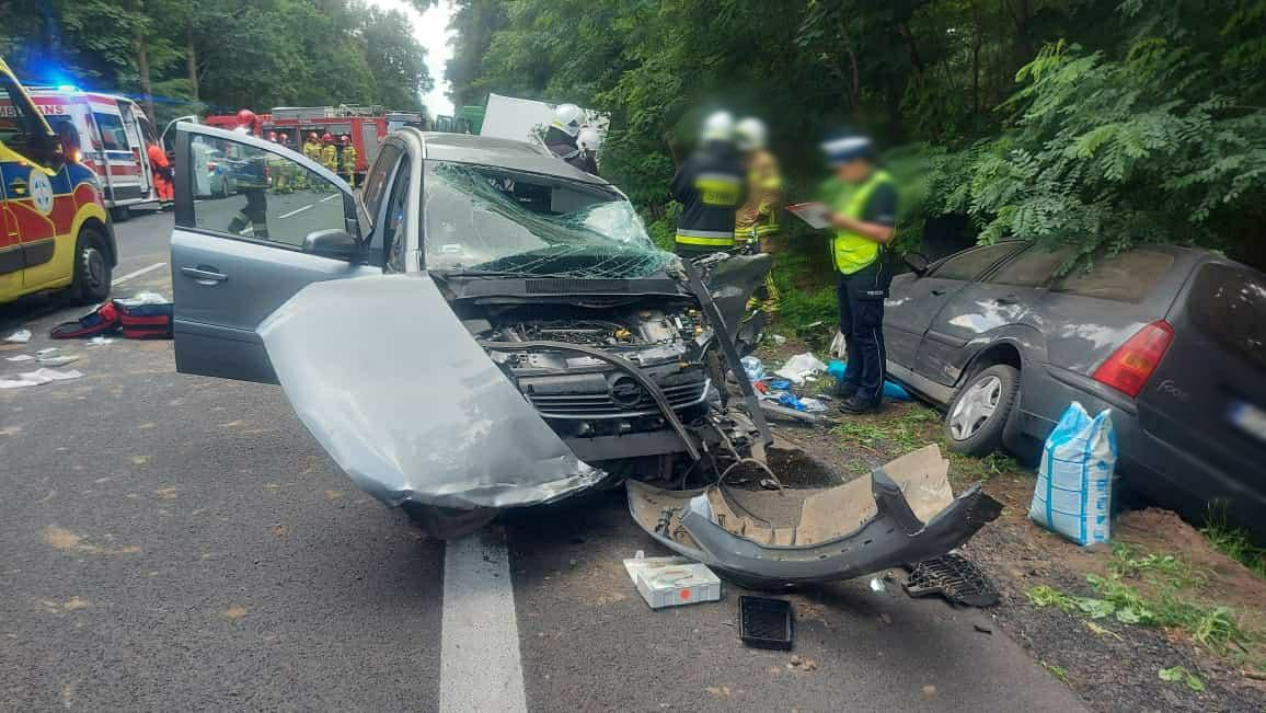 budzyń wypadek ranne dziecko - KPP Chodzież