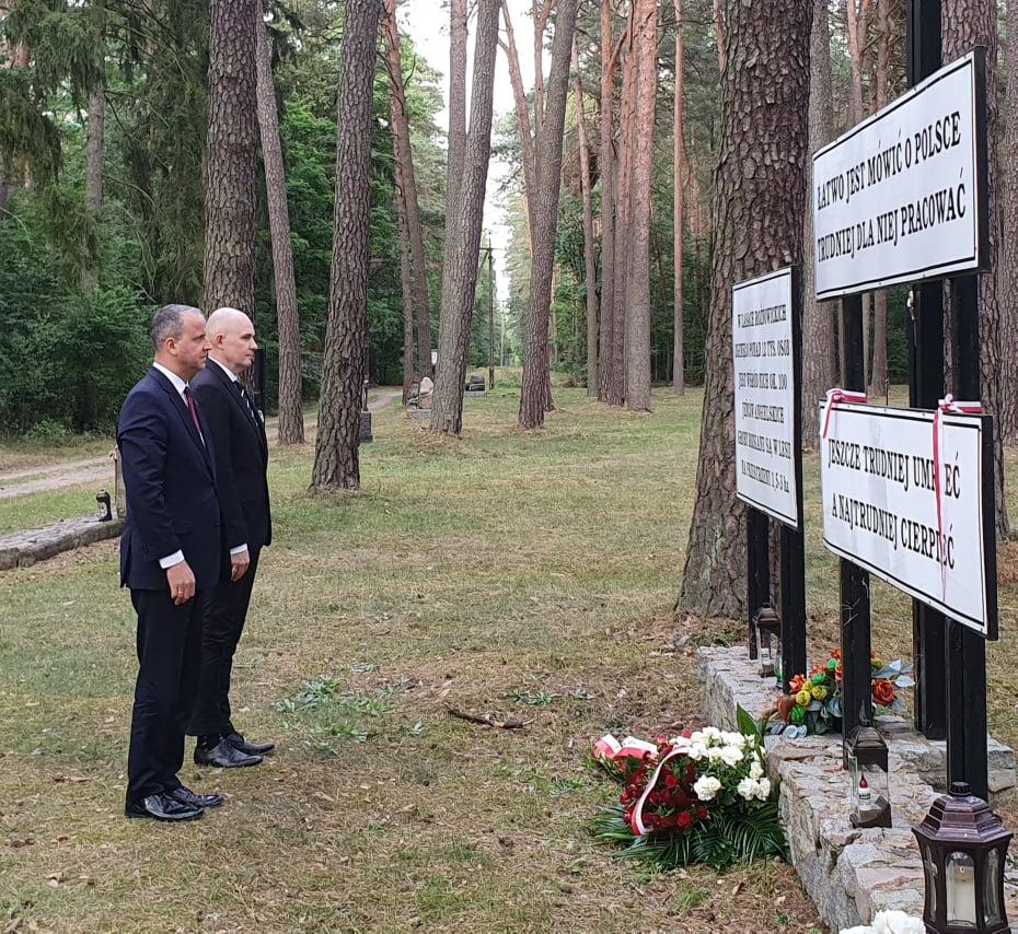 lasy rożnowskie groby tablice wojewoda  - WUW