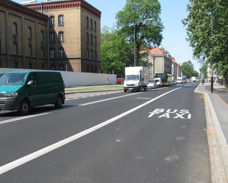 Buspas na ul. Bukowskiej - ZDM Poznań